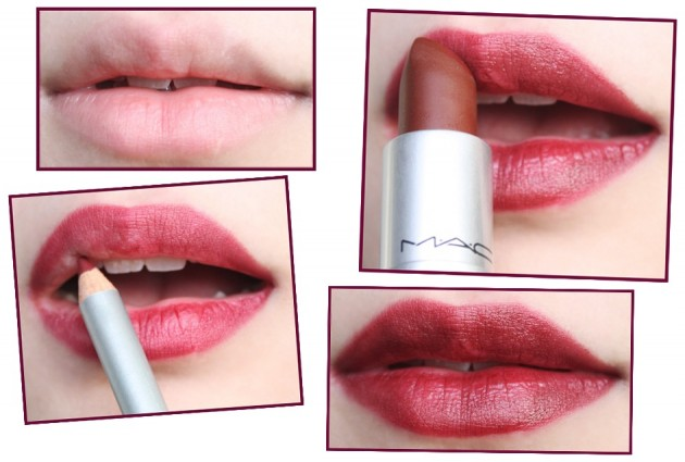 Dark red lip tutorial (s)