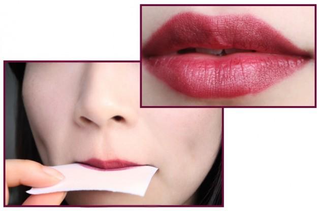 Dark red lip tutorial trick