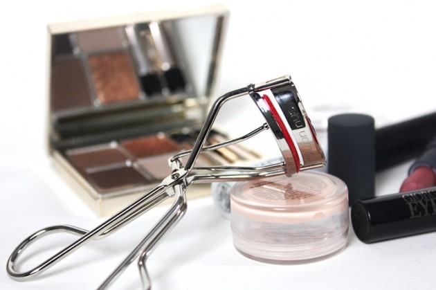 Holiday makeup tutorial - shu curler