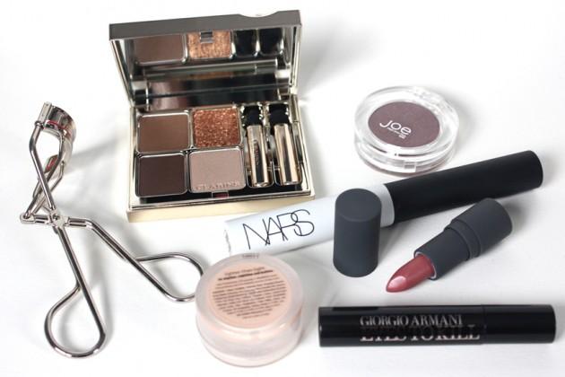 Winged burgundy eyeliner - products used