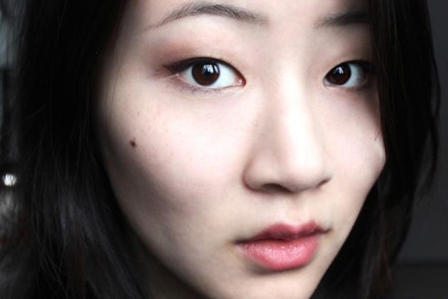 Winged burgundy eyeliner - winter holiday look