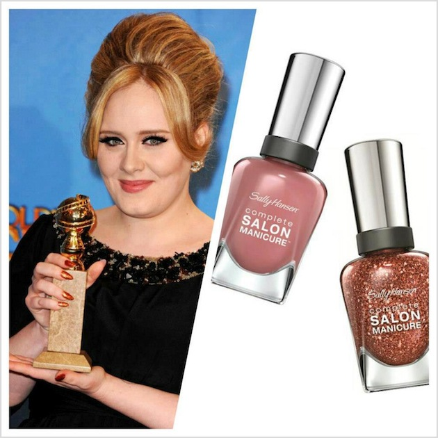 Celebrity Nail Salon: Adele At The 70th Annual Golden Globes: Not