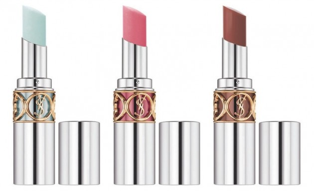 YSL Volupte Sheer Candy Frosted Mint, Tasty Raspberry, Griotte Mocha