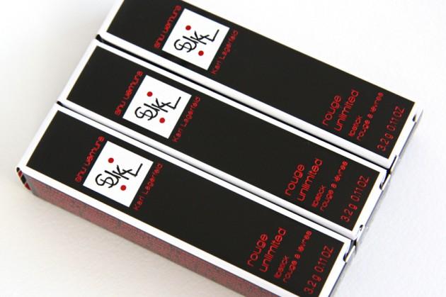 karl x shu lipstick box packaging