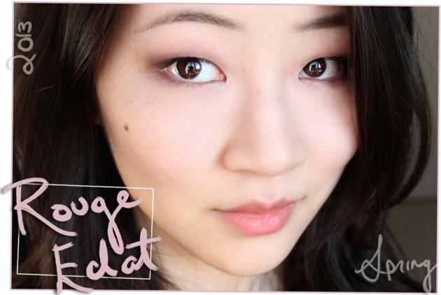 Spring 2013 makeup look Clarins Rouge Eclat