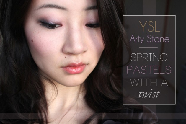 YSL Arty Stone makeup look Spring pastels with a twist
