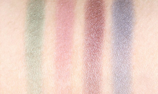 YSL Y Facettes Palette - swatches, dry