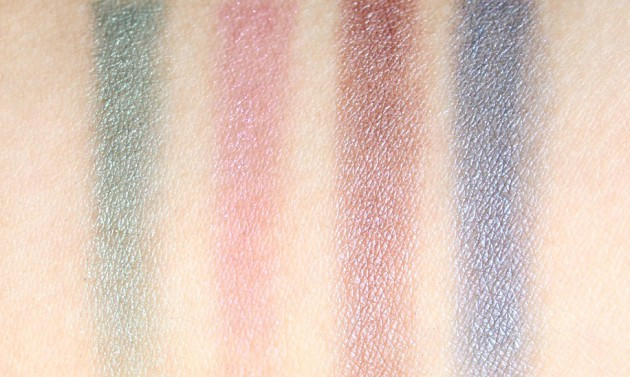 YSL swatches - Y Facettes Arty Stone palette, foiled