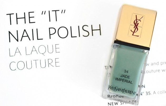 YSL Jade Imperial swatches review La Laque Couture