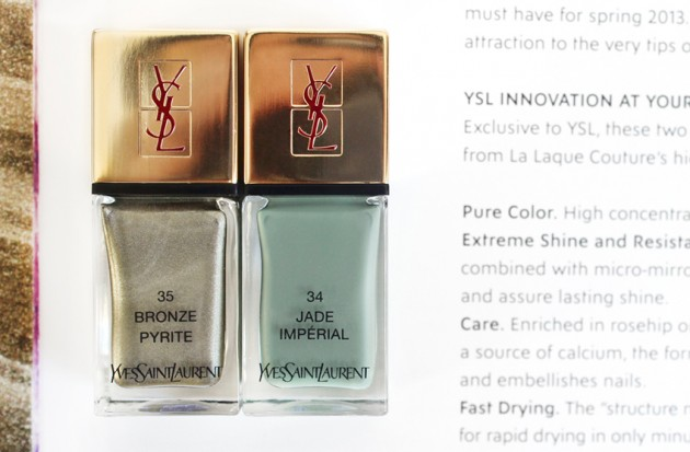 YSL La Laque Couture review Spring 2013 Arty Stone