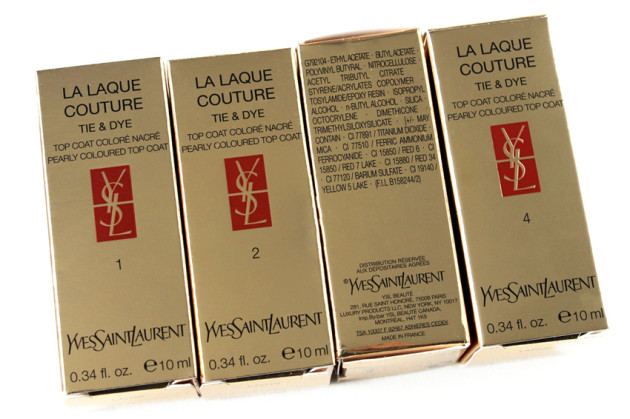 YSL Tie & Dye topcoat ingredients