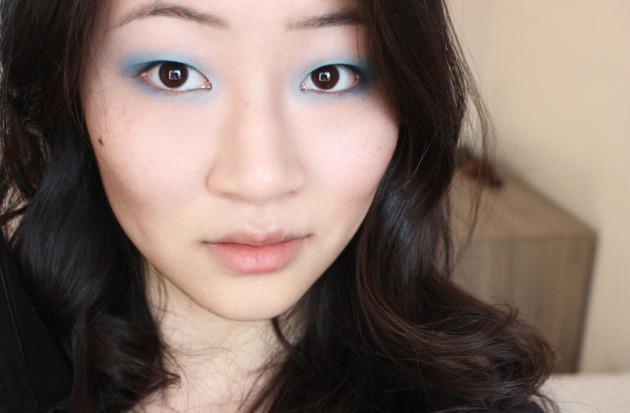 2. Cornflower blue makeup (intermed step)
