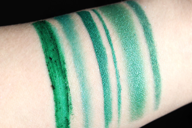 Sephora Pantone Emerald swatches sunlight