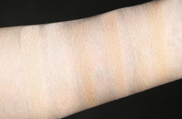 IT Cosmetics Bye Under Eye vs MAC shades swatches
