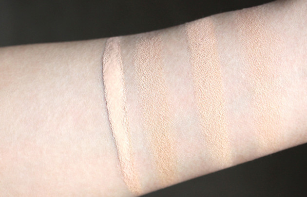 IT Cosmetics Fair Light concealer foundation swatches