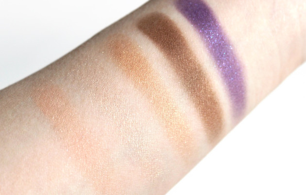 YSL Ombres 5 Lumieres eyeshadow swatches - Marrakesh Sunset review