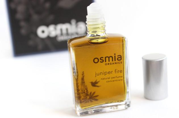 Osmia Organics perfume concentrate review Juniper Fire