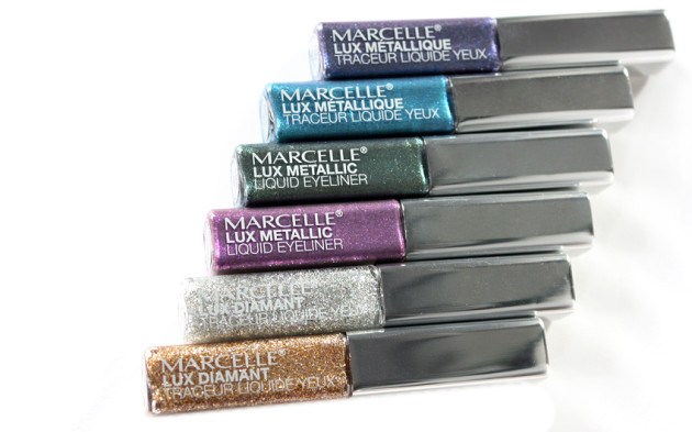 Marcelle Lux Metallic, Diamond liquid liners glitter