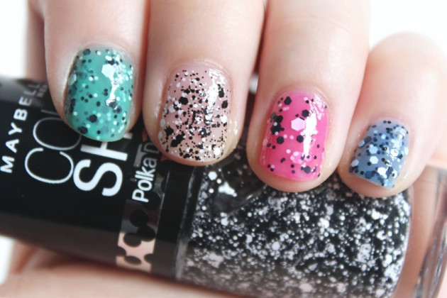 Maybelline Polka Dots swatch review Clearly Spotted