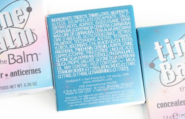 theBalm timeBalm concealer ingredients