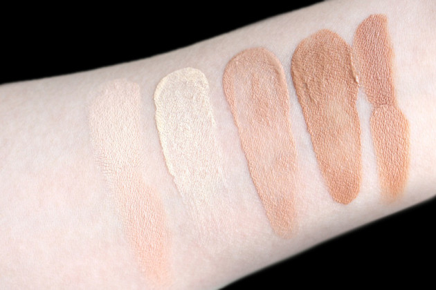 Marie Veronique Everyday Coverage swatch shade comparisons
