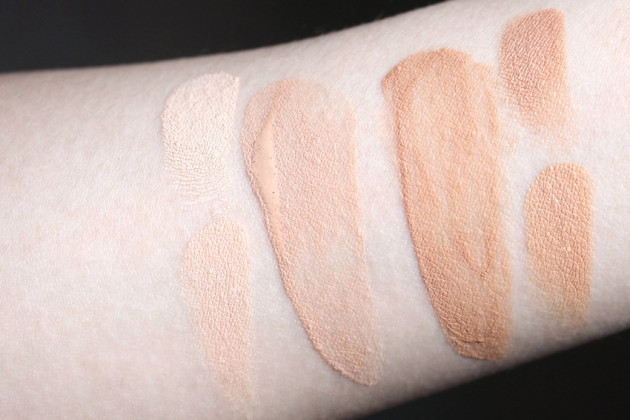 Marie Veronique Everyday Sheer Coverage SPF 20 swatches shade comparisons