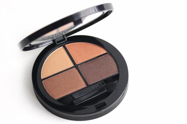 Annabelle eyeshadow quad review Chai
