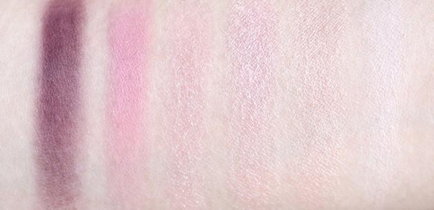 Shu Uemura Pink Hues Pret a Palette swatches