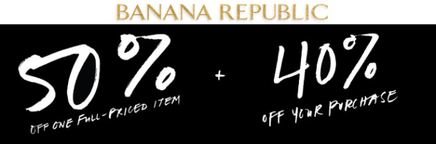 Banana Republic sale black friday