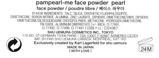 shu uemura pamperal-me face powder ingredients
