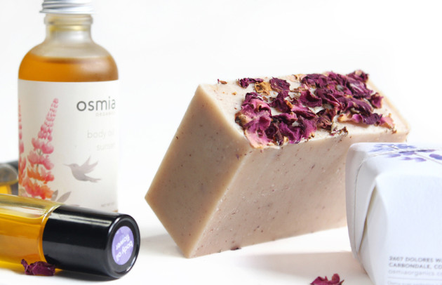 Osmia Milky Rose soap, Sunset body oil