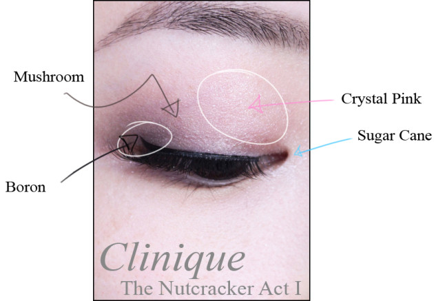 Clinique Nutcracker Act I palette review swatches