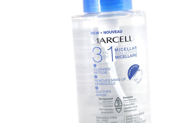 Marcelle 3 in 1 Micellar Solution makeup remover review