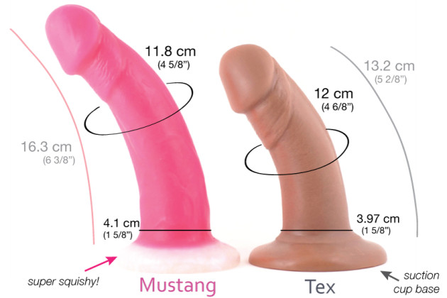 Vixen Creations Mustang vs Tex review photos comparison VixSkin sizing