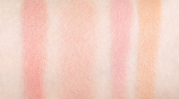 Lise Watier Expression Blush Trio swatches review