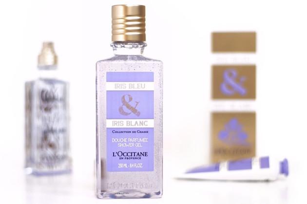 L'Occitane Iris Bleu et Iris Blanc shower gel