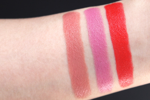 Clinique Lip Pop Lip Colour + Primer swatches beige fab poppy