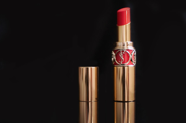 YSL Corail Incandescent Rouge Volupte Shine review swatches photos