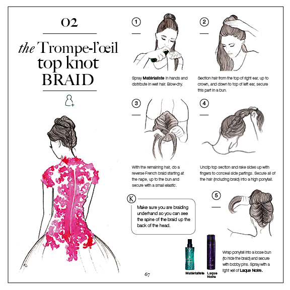 top knot braid tutorial