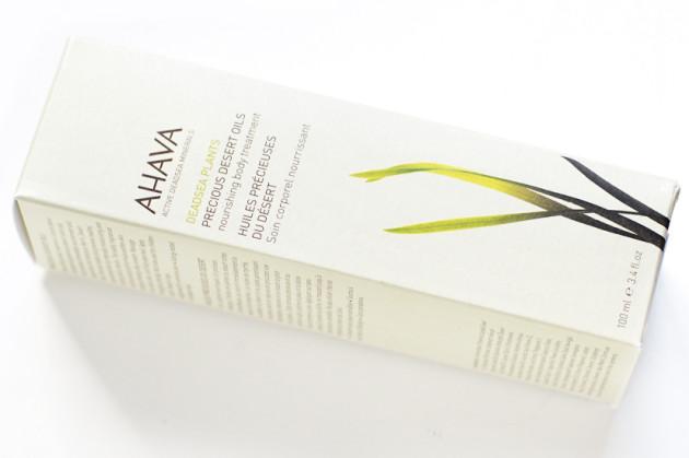 AHAVA precious desert oils body treatement review