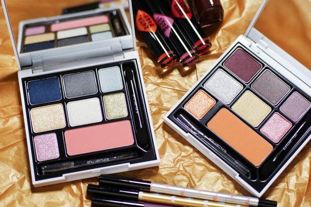 Maison Kitsune for Shu Uemura Beauty Remix Smokey Eye and Cheek Palette review Indigo Plum