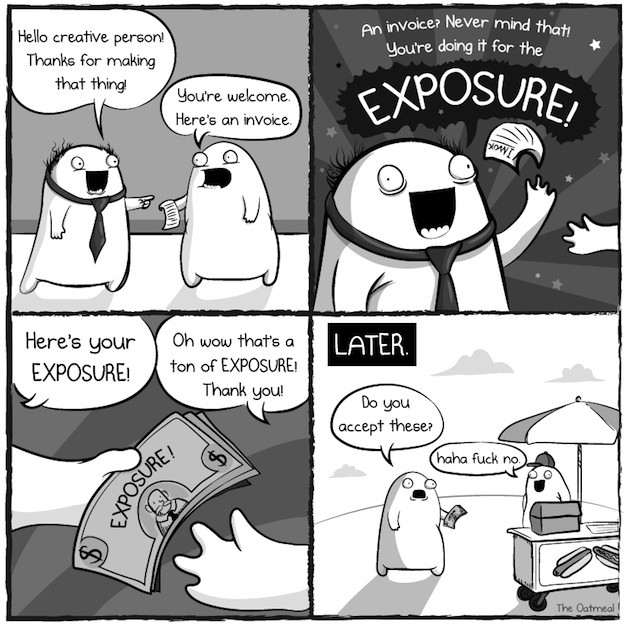exposure by the oatmeal