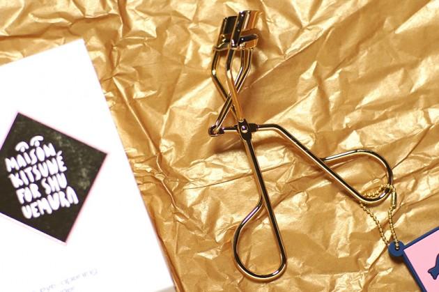 maison kitsune shu uemura gold eyelash curler