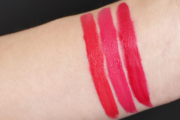 Lise Watier Love, Passion, Party Kiss swatches Baiser Velours