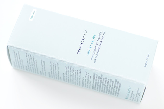 SkinCeuticals Simply Clean Cleanser combination gel skin review
