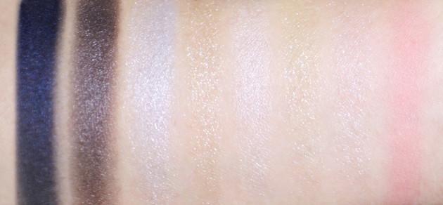 shu maison kitxune beauty remix palette indigo swatches review