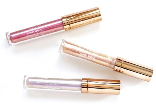 Elizabeth Arden Sunset Bronze Lip Gloss swatches review