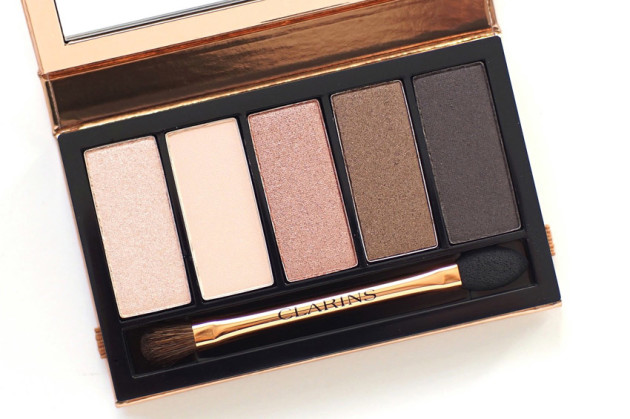 Clarins Natuarl Glow 5 colour eyeshadow plette review swatches