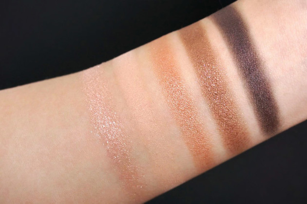 Clarins Natural Glow Eye Palette swatches, review