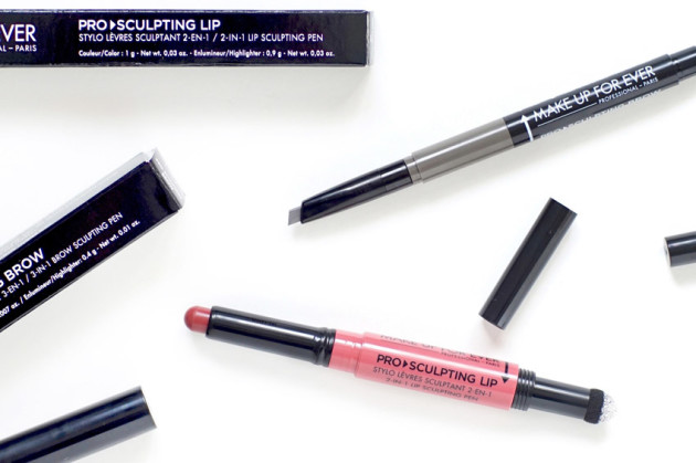 Make Up For Ever pro sculpting review photos brow lip